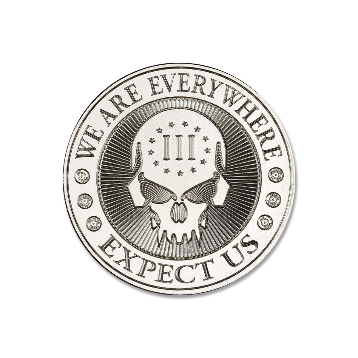 2020 – DEUCE FOUR SKULL – 1 TROY OUNCE – 39MM