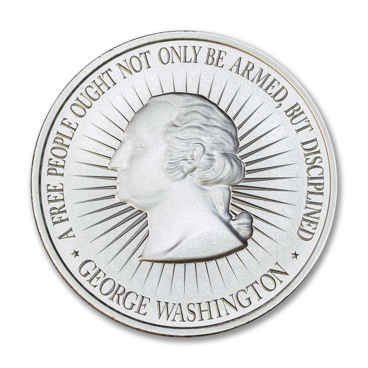 WASHINGTON BUST / BILL OF RIGHTS 2A – 2 TROY OUNCE – 50MM