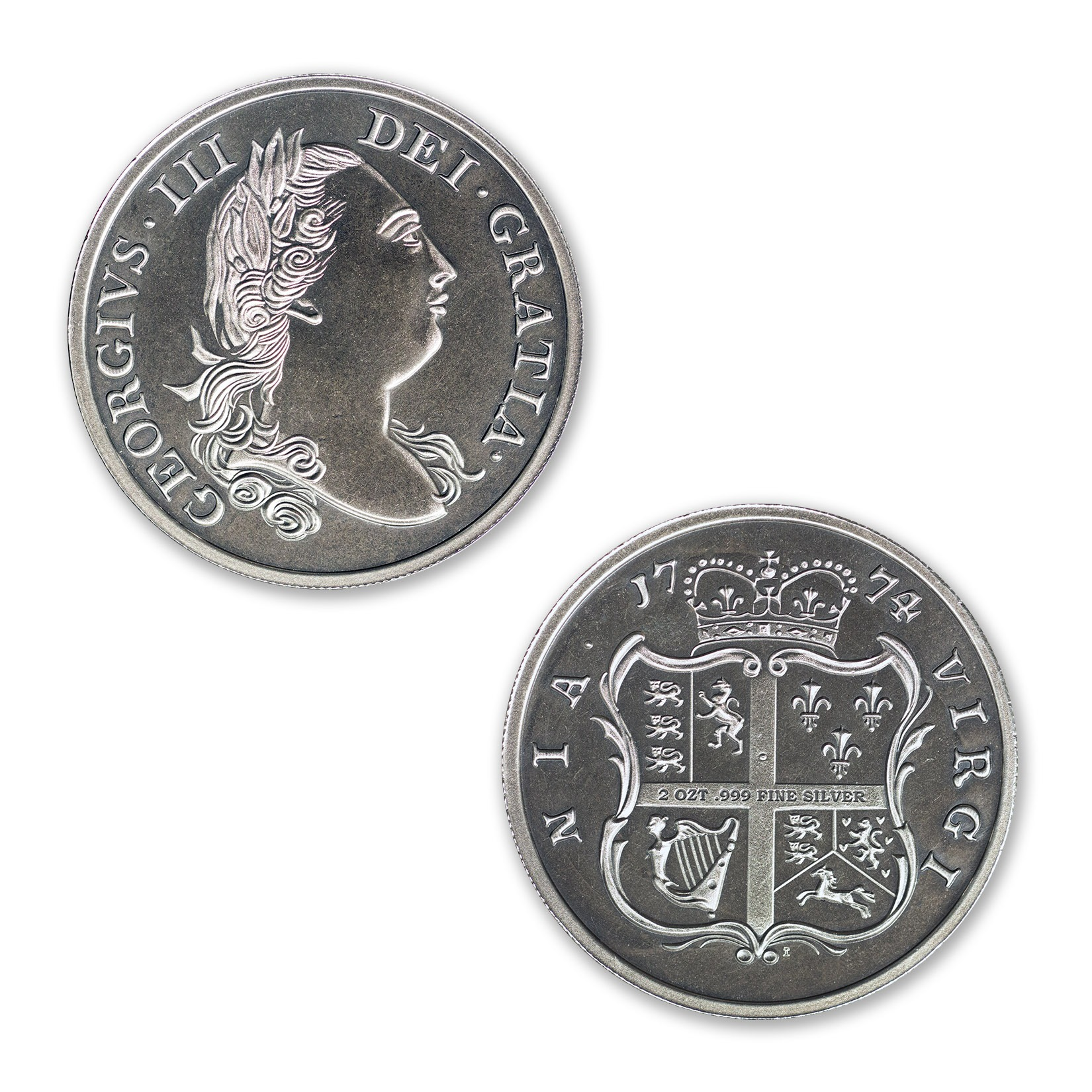 VIRGINIA SHILLING – 2 TROY OUNCE – 39MM (ANTIQUED)