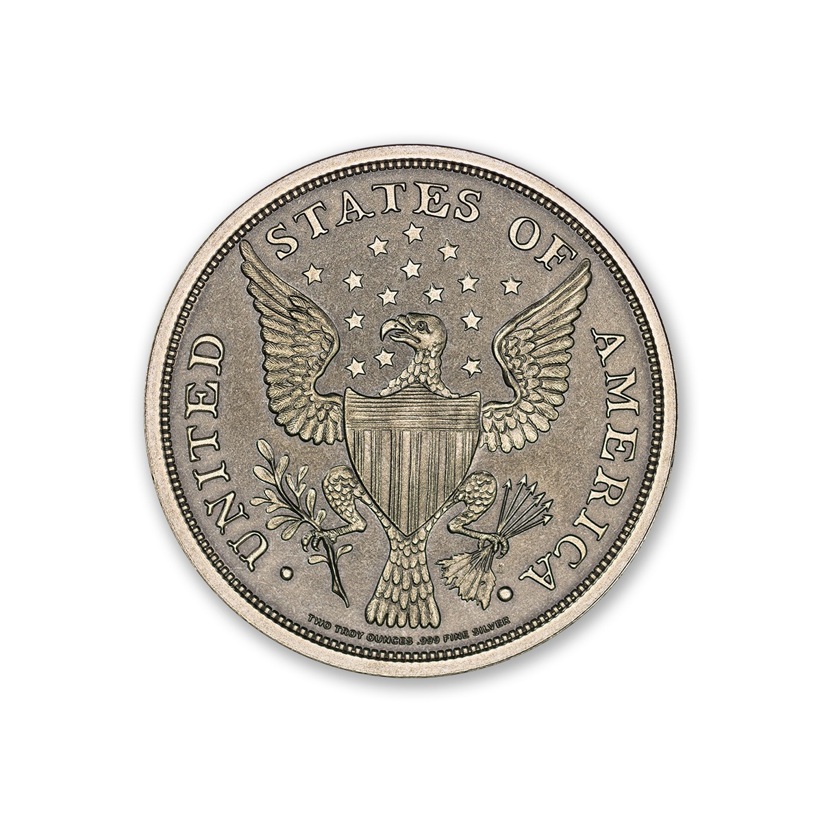 Colonial Tribute Series - Getz Washington - 2 ozt. 39mm .999 Fine Silver Art Medal with Antique Finish (6mm Thick)