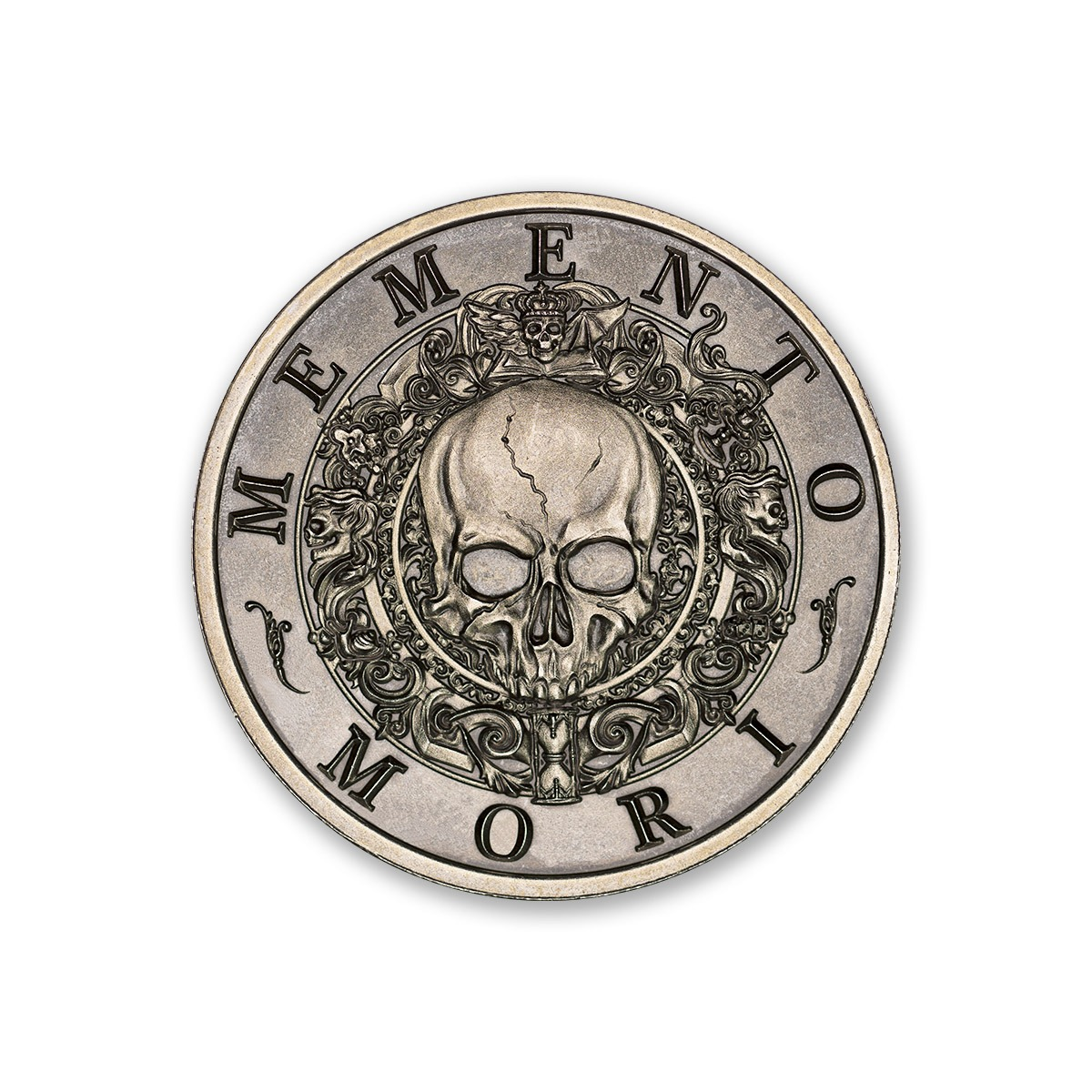 MEMENTO MORI – 2 TROY OUNCE – 39MM (ANTIQUED)