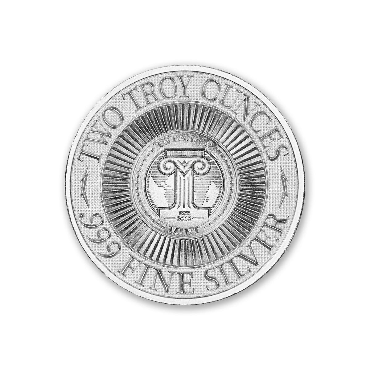 GIANT LONGHORN BEETLE – 2 TROY OUNCE – 39MM