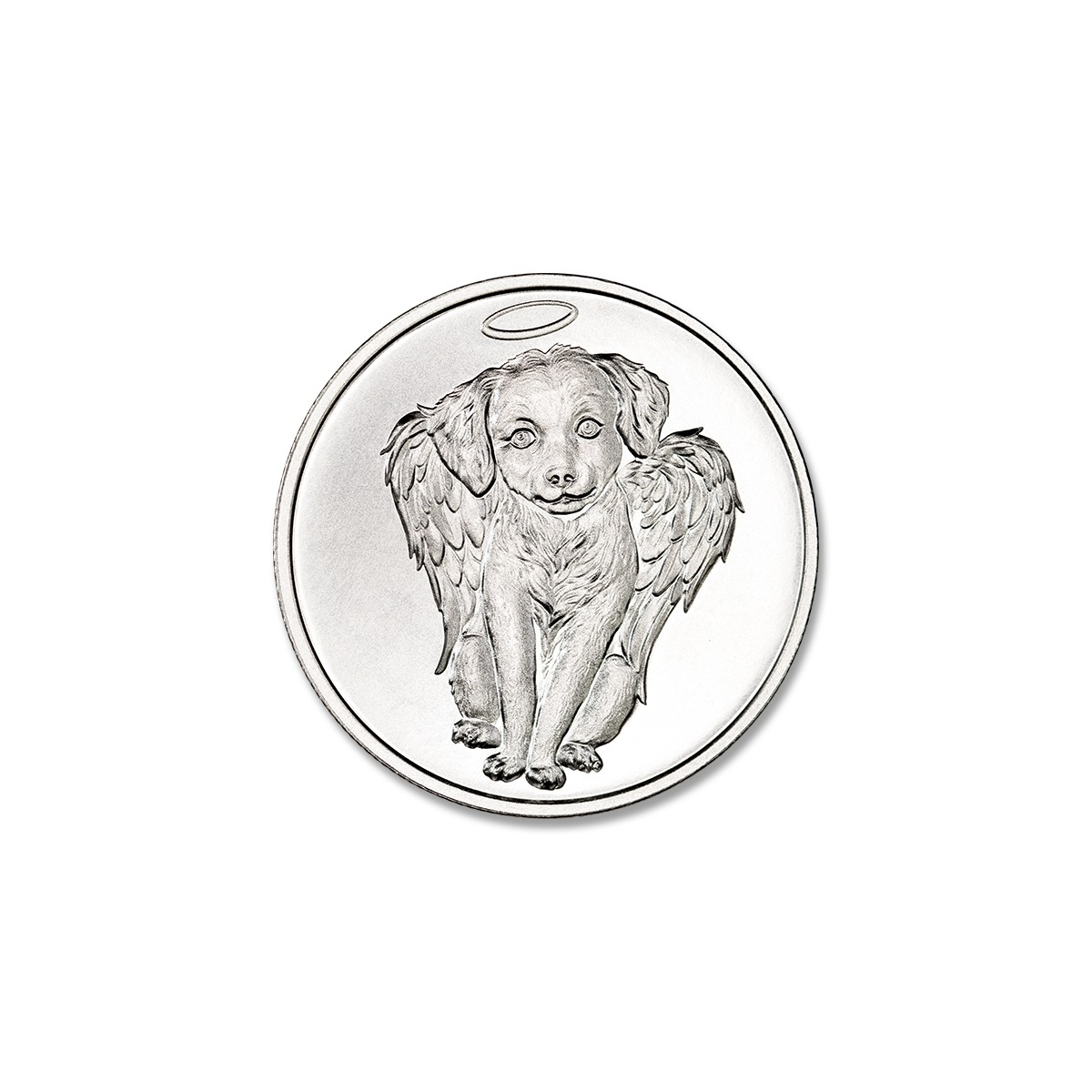 CHERUB DOG REMEMBRANCE TOKEN – 1/2 TROY OUNCE – 30MM