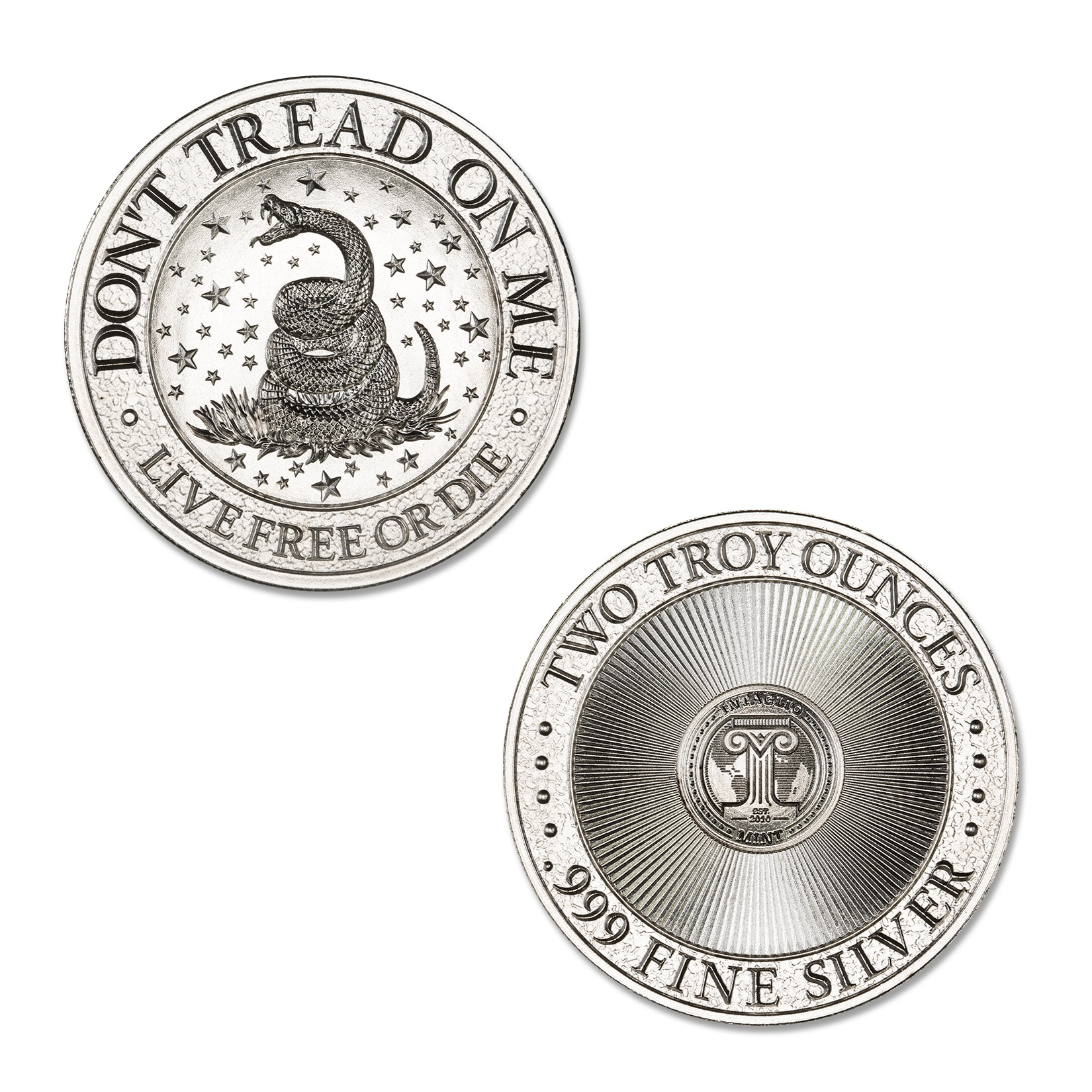 DON'T TREAD ON ME – 2 TROY OUNCE – 39MM