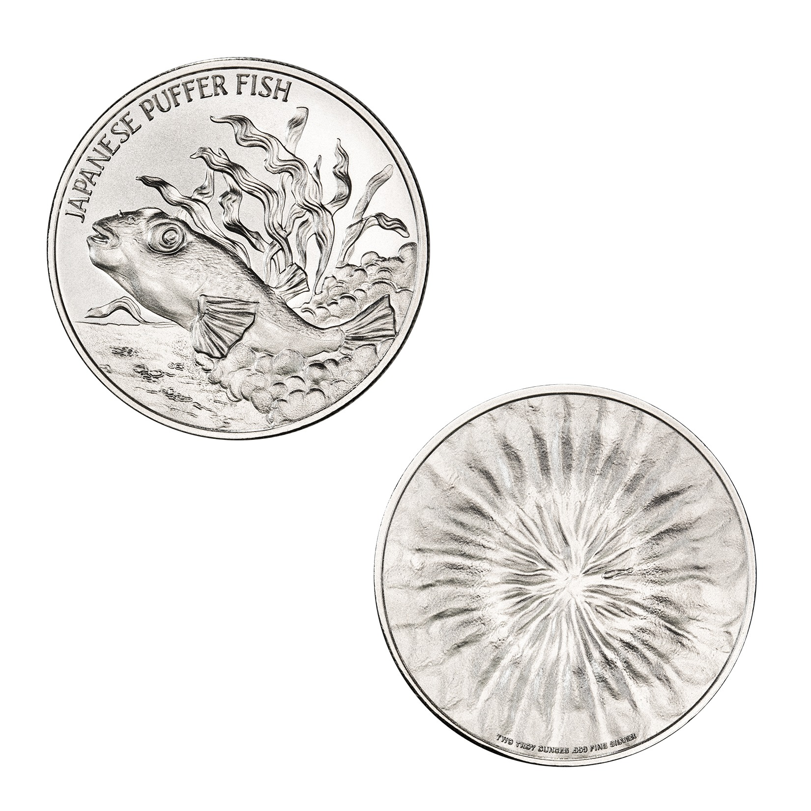PUFFER FISH – 2 TROY OUNCE – 39MM