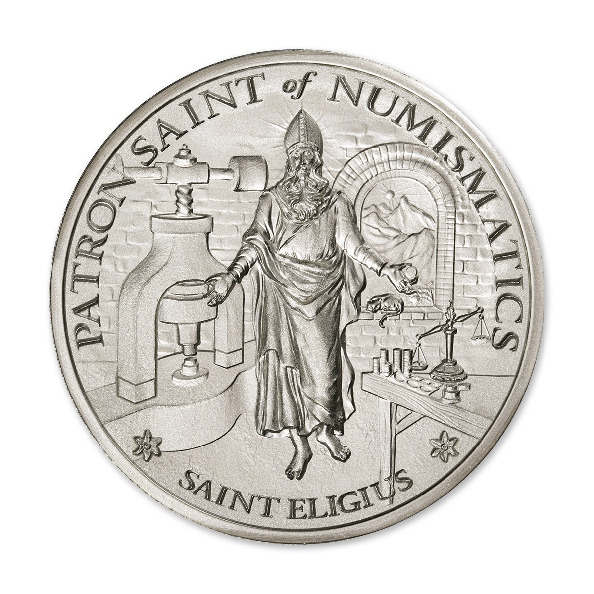 SAINT ELIGIUS – 5 TROY OUNCE – 50MM – LIMITED MINTAGE: 500