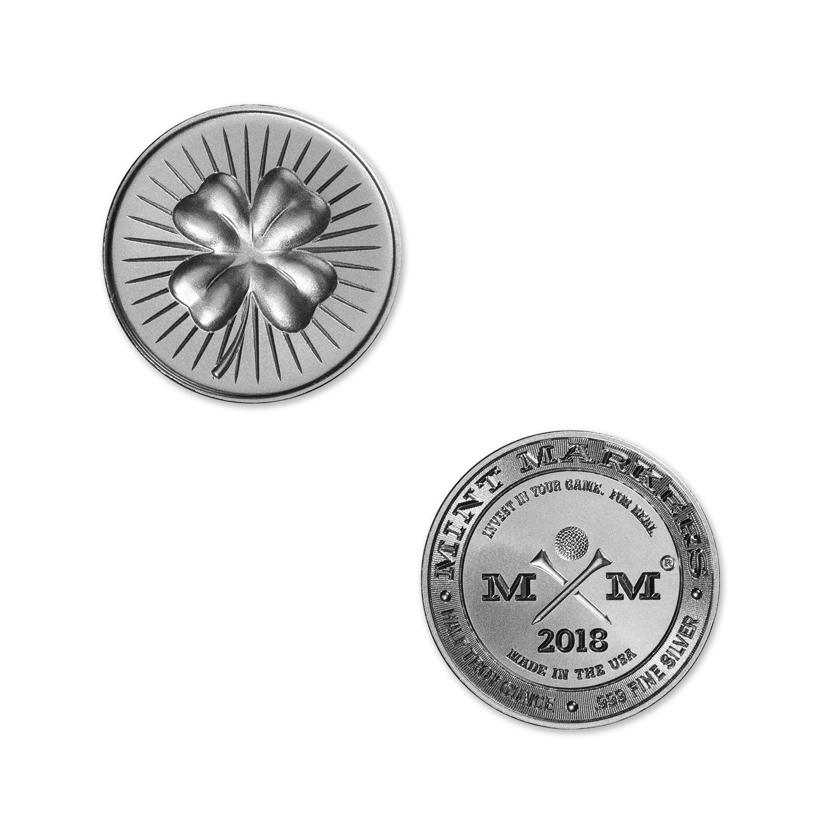 "2018 MINT MARKERS® – ""LUCKY"" – 1/2 TROY OUNCE – 30MM (ONLY 1,000 MINTED)"
