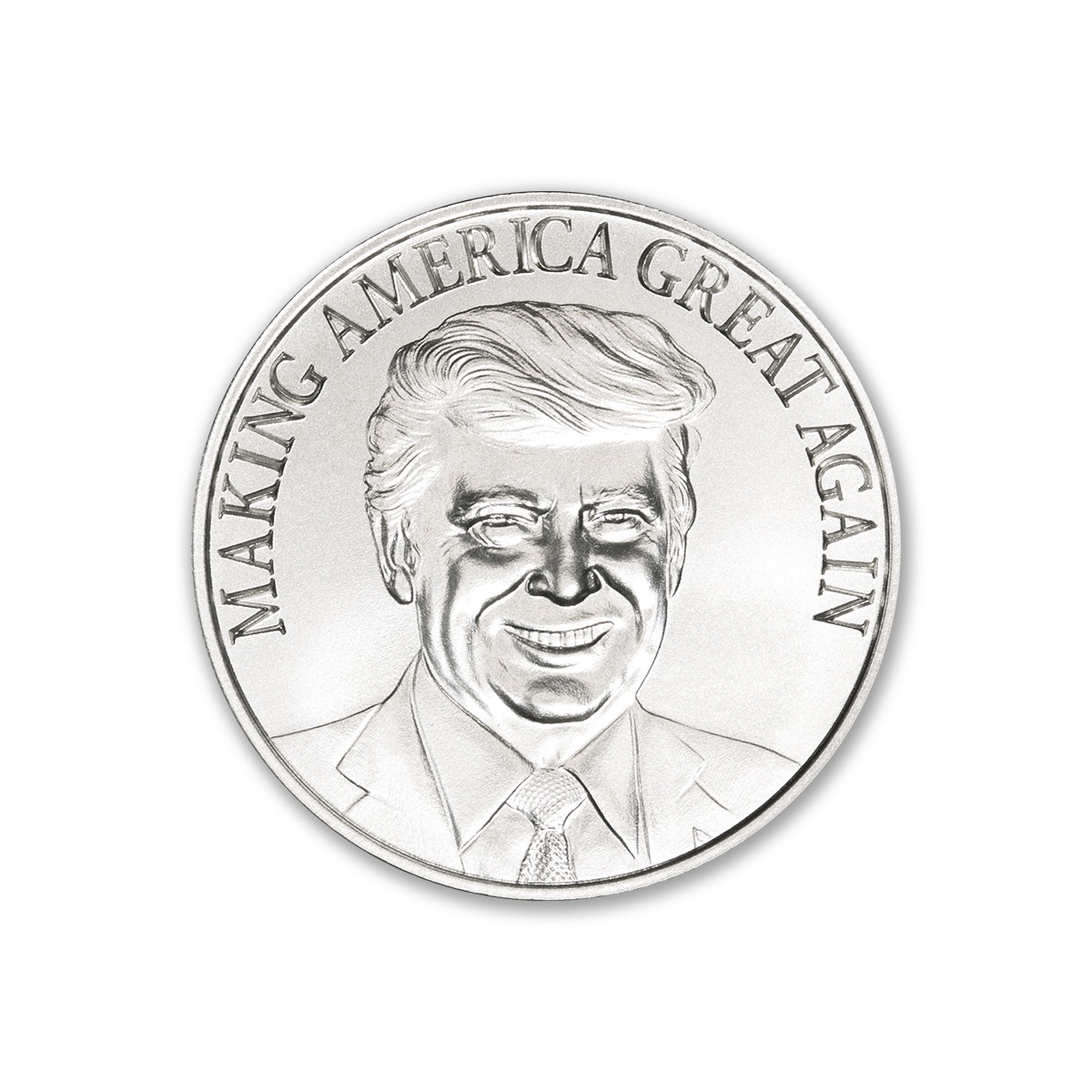 "TRUMP – ""MAKING AMERICA GREAT AGAIN"" ™ – 1 TROY OUNCE – 39MM"