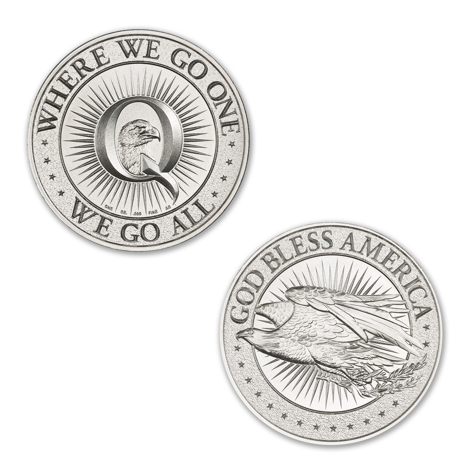 QANON – WHERE WE GO ONE, WE GO ALL – 1 TROY OUNCE – 39MM