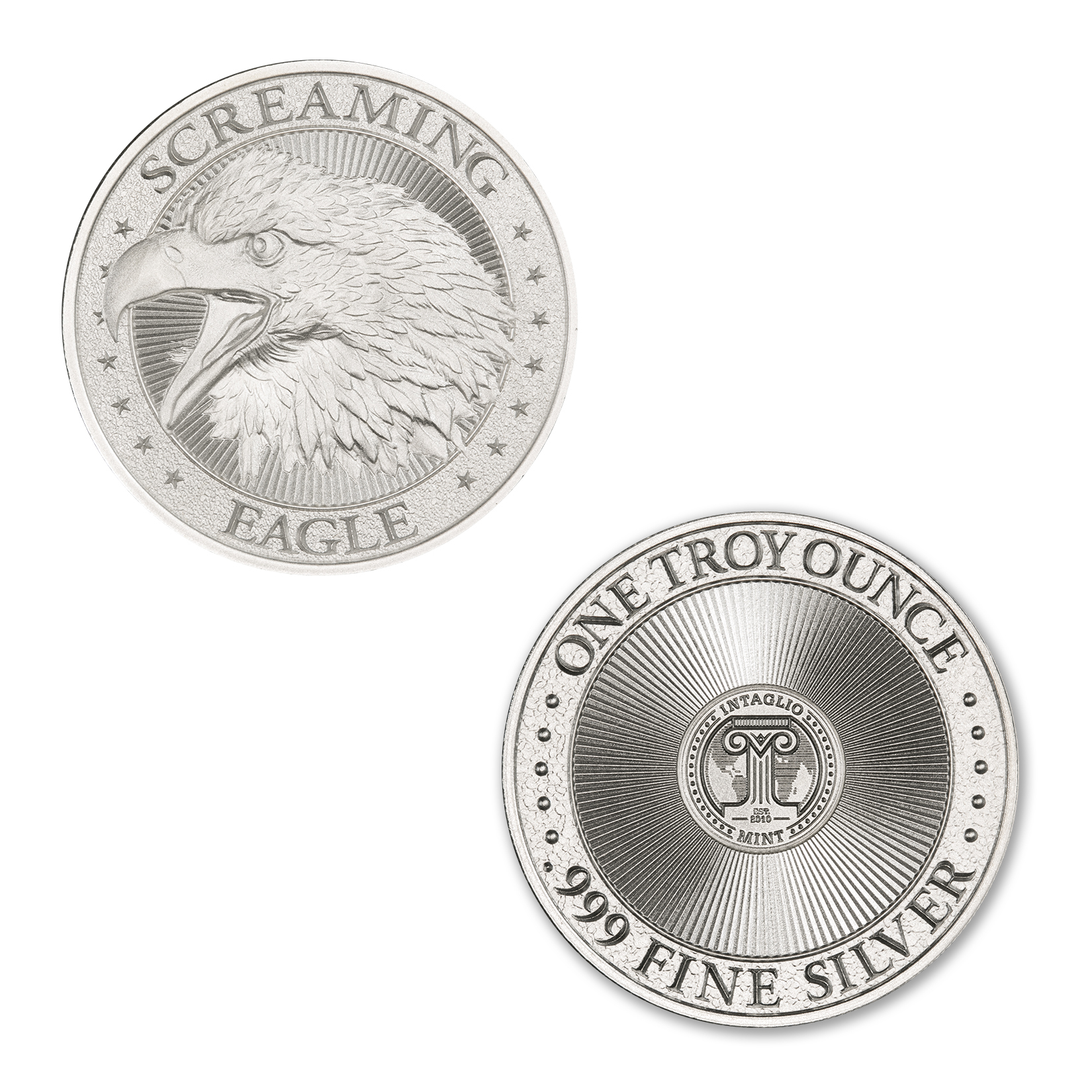 SCREAMING EAGLE – HIGH RELIEF – 1 TROY OUNCE – 39MM
