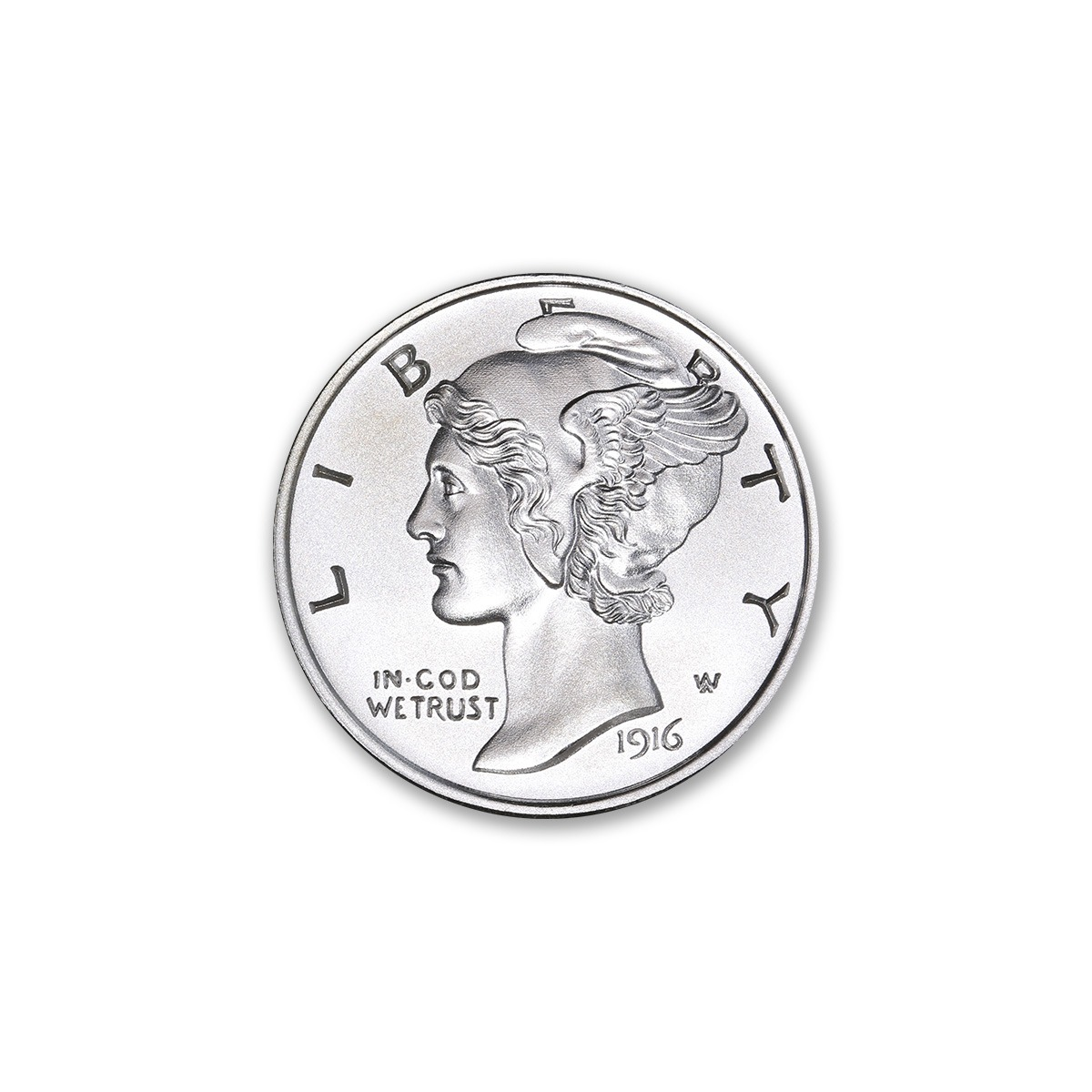 NEW MERCURY DIME TRIBUTE – 1/2 TROY OUNCE – 30MM