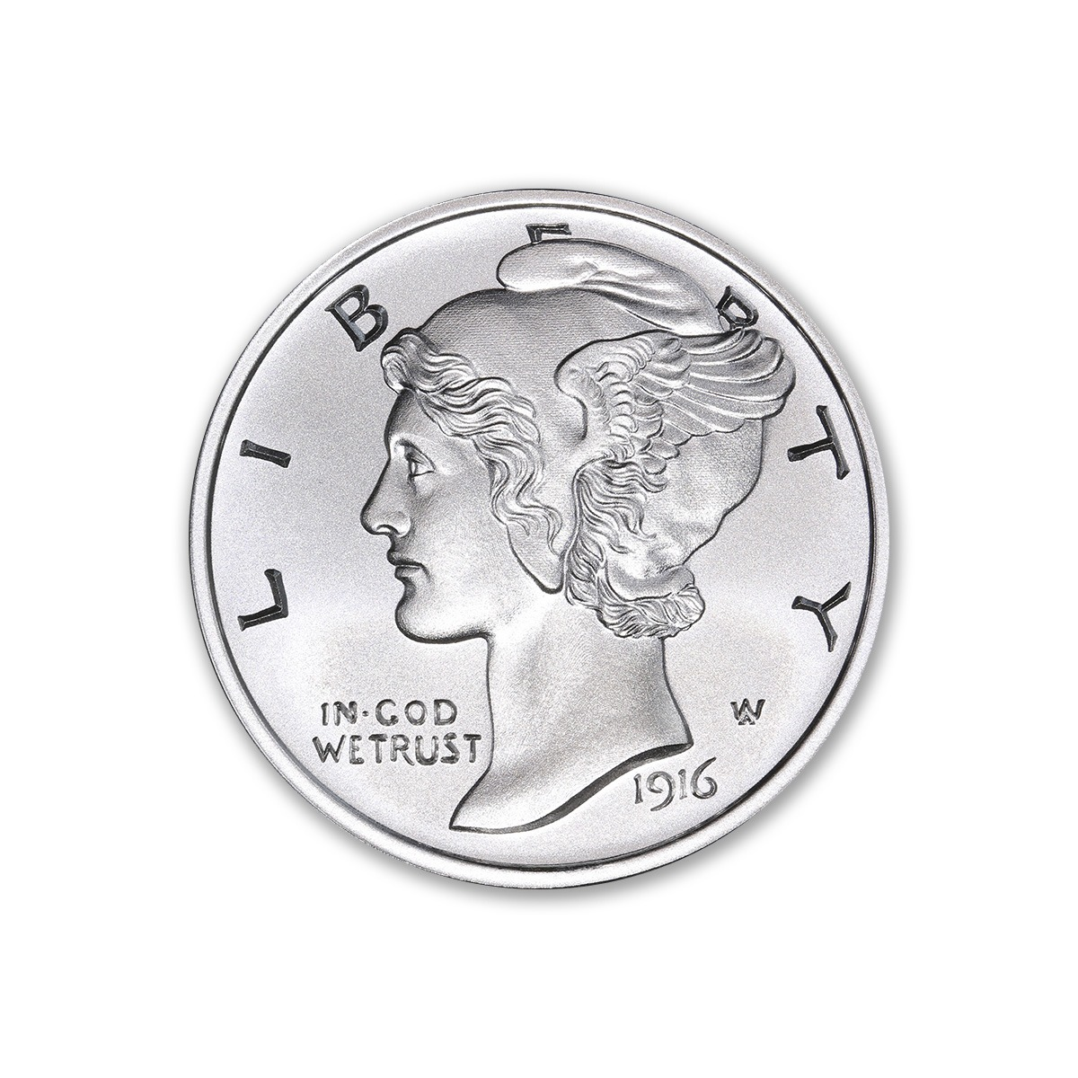 NEW MERCURY DIME TRIBUTE – 1 TROY OUNCE – 39MM