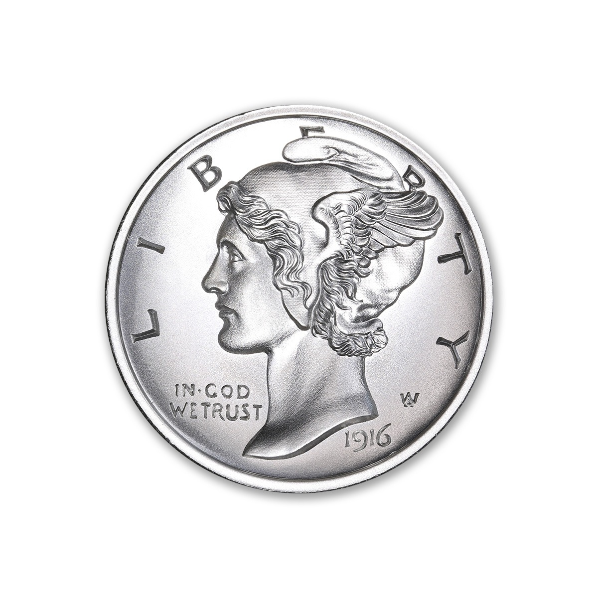 NEW MERCURY DIME TRIBUTE – UHR – 2 TROY OUNCE – 39MM