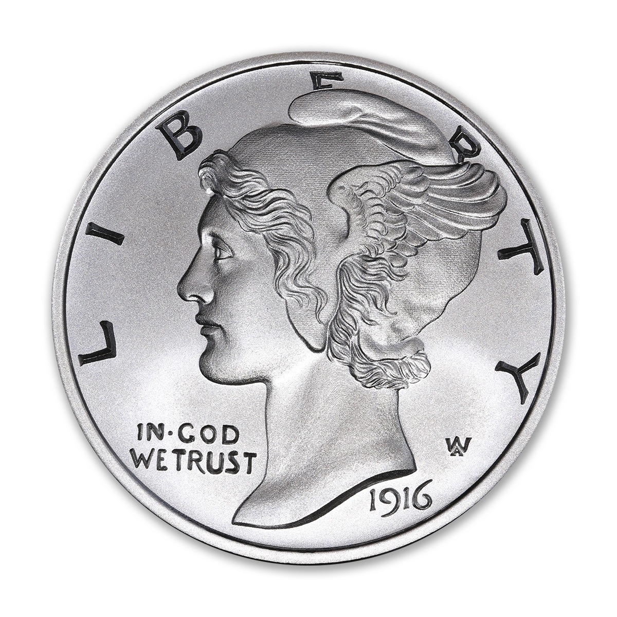 MERCURY DIME TRIBUTE – 2 TROY OUNCE – 50MM