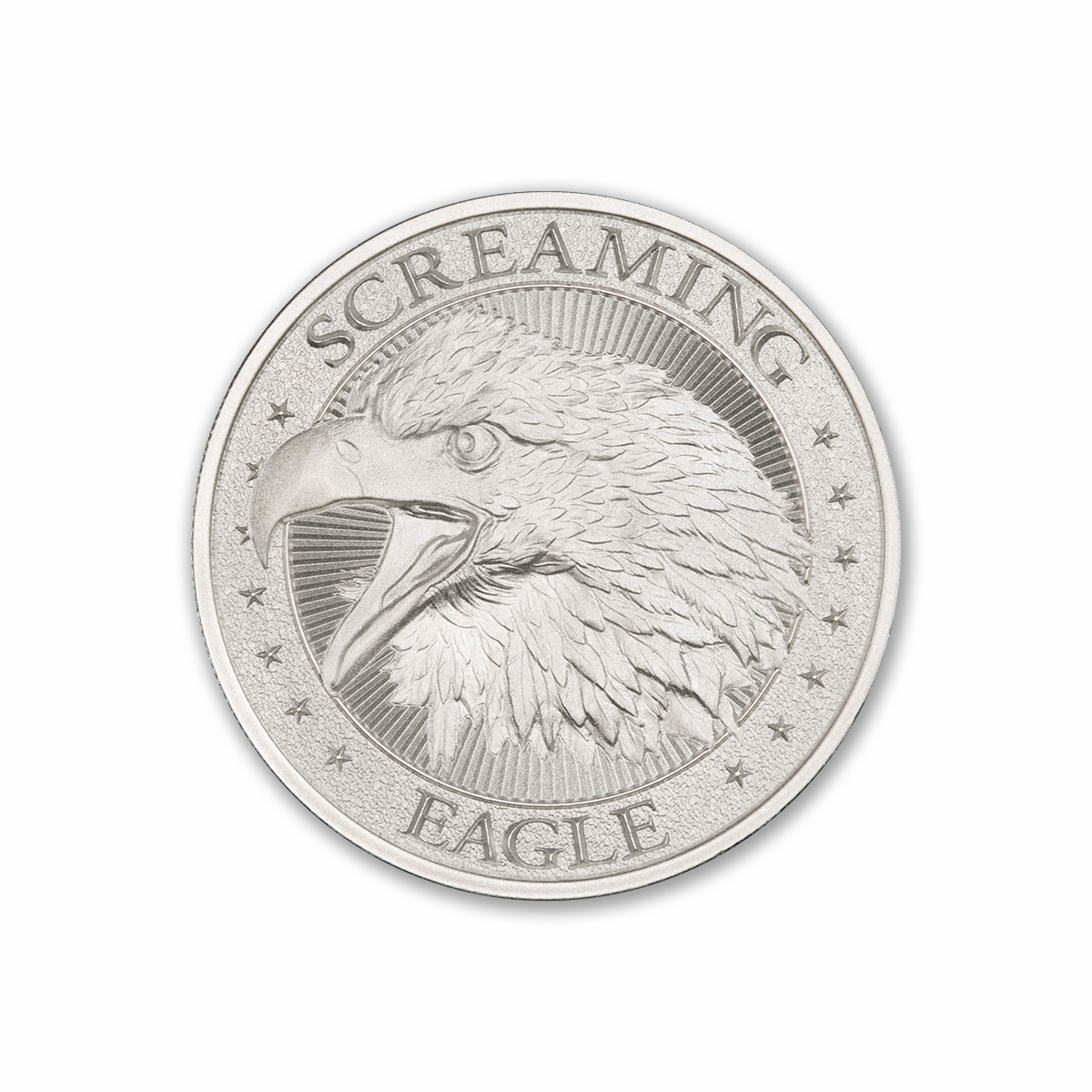 SCREAMING EAGLE – HIGH RELIEF – 2 TROY OUNCE – 39MM