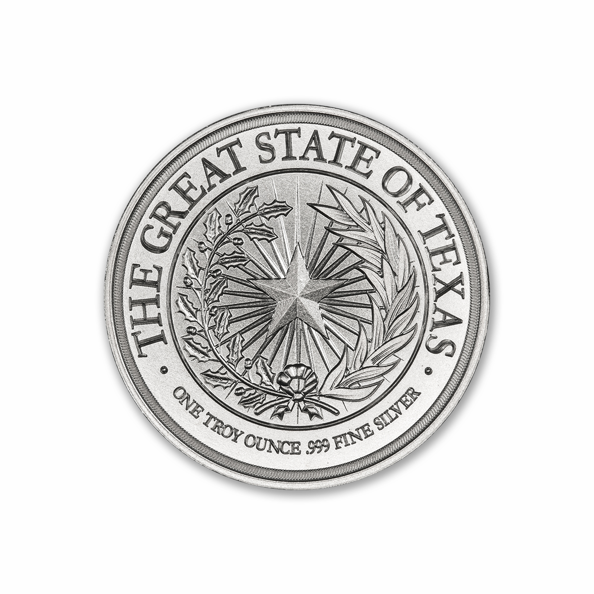 TEXAS SEAL W/ GONZALES CANNON – 1 TROY OUNCE – 39MM