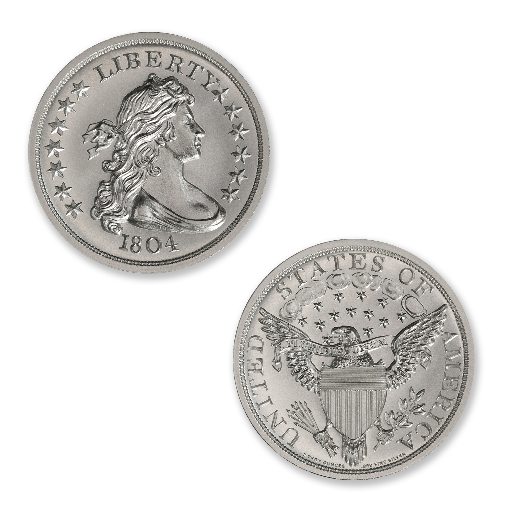 1804 DOLLAR TRIBUTE – 2 TROY OUNCE – 39MM
