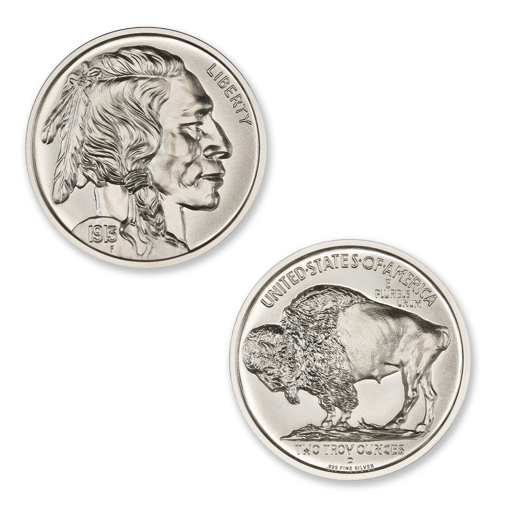 BUFFALO NICKEL TRIBUTE – 2 TROY OUNCE – 39MM