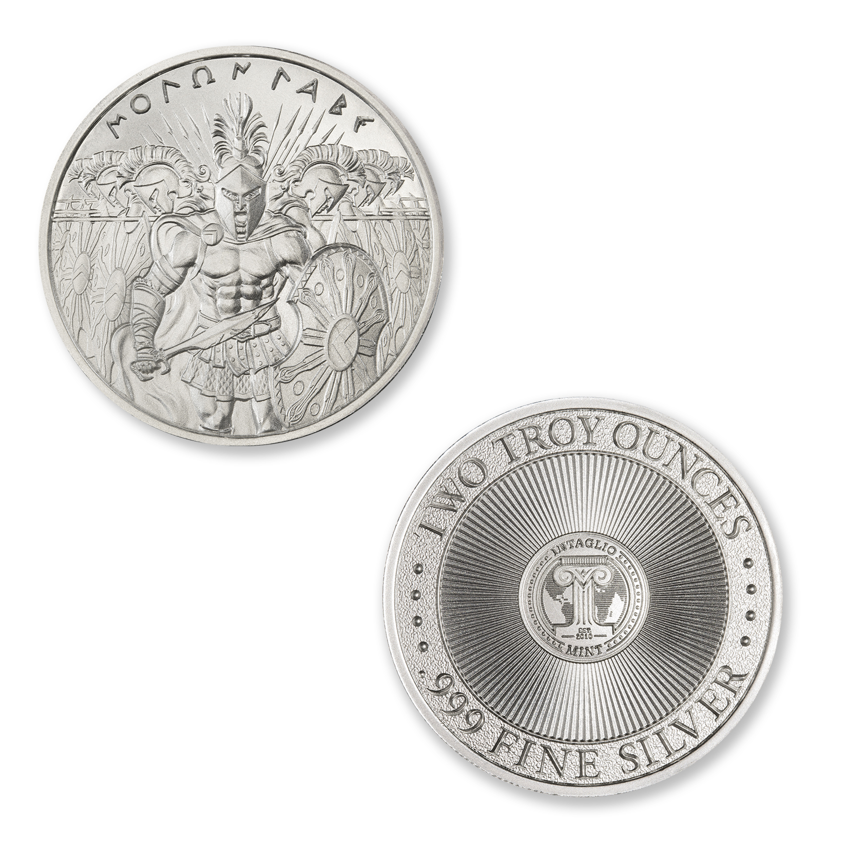 MOLON LABE – TYPE II – 2 TROY OUNCE – 39MM