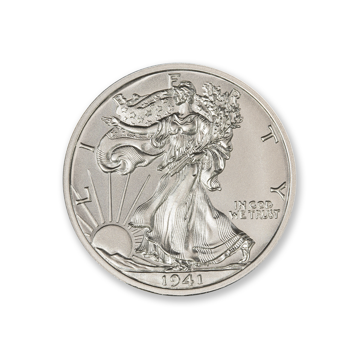 WALKING LIBERTY HALF DOLLAR TRIBUTE – 2 TROY OUNCE – 39MM
