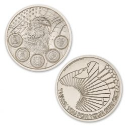 MILITARY SERVICE APPRECIATION ROUND – 2 TROY OUNCE – 39MM