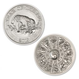 CHINESE ZODIAC – YEAR OF THE PIG – 2 TROY OUNCE – 39MM