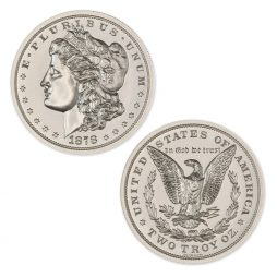 1878 MORGAN DOLLAR TRIBUTE – 2 TROY OUNCE – 39MM