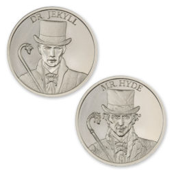 DR. JEKYLL AND MR. HYDE – VINTAGE HORROR SERIES – 2 TROY OUNCE – 39MM