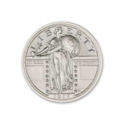 1917 STANDING LIBERTY QUARTER, TYPE II – 2 TROY OUNCE – 39MM