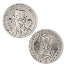 DR. JEKYLL AND MR. HYDE – TYPE II – VINTAGE HORROR SERIES – 2 TROY OUNCE – 39MM