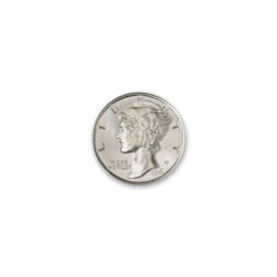 MERCURY DIME TRIBUTE – 1/4 TROY OUNCE – 20MM