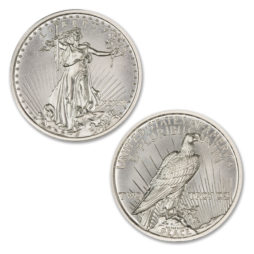 THE MULE CLUB – ISSUE #2 – $20 SAINT OBVERSE / PEACE DOLLAR REVERSE – 2 TROY OUNCE – 39MM – LIMITED MINTAGE OF 100