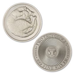 2020 – SLEEPING CAT –  2 TROY OUNCE – 39MM