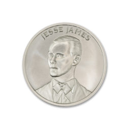 JESSE JAMES – 2 TROY OUNCE – 39MM