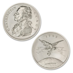 1805 C.C.A.U.S. MEDAL – GEORGE WASHINGTON – 2 TROY OUNCE – 39MM