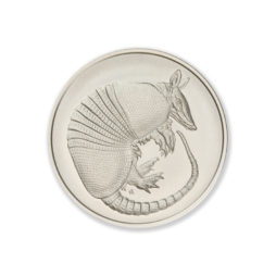 DON'T MESS WITH TEXAS / ARMADILLO – 1 TROY OUNCE – 39MM