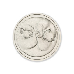 2021 – TWO SLEEPING CATS – 1 TROY OUNCE – 39MM