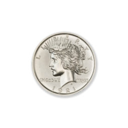 1921 HIGH RELIEF PEACE DOLLAR TRIBUTE – 1 TROY OUNCE – 30MM